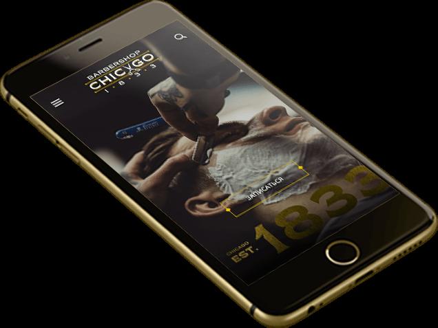 Мобильное приложение Chicago 1833 Барбершоп